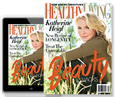 Healthy LivinG Magazine cover Brooke Shields and Kim Cattrall